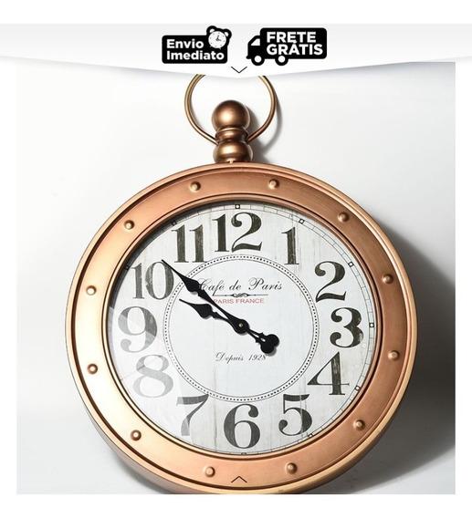 Relógio De Parede Antique Deco Imperial Café De Paris Grande