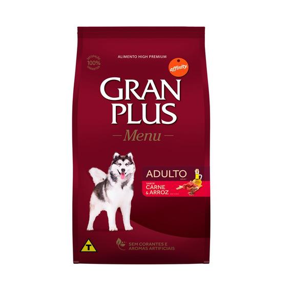 Ração Granplus Para Cães Adultos Sabor Carne E Arroz - 15kg