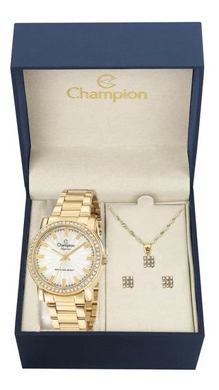 Relógio Champion Feminino + Semi Jóia Cn27250w