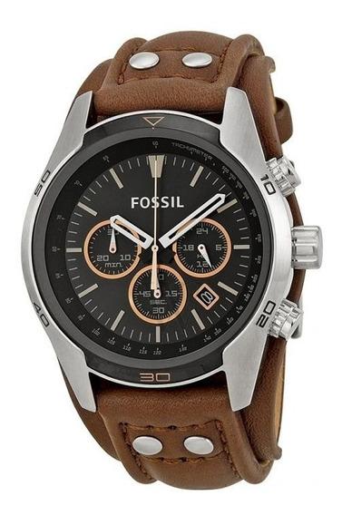 Relógio Fóssil Coachman Chronograph Black Dial -ch2891