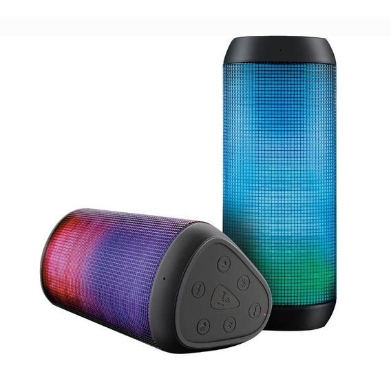 Caixa De Som Bluetooth Multilaser Sp192 Sound Led Light