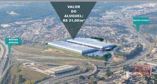 Galpão Para Alugar, 5225 M² Por R$ 109.725,00/mês - Jardim Vista Alegre - Embu Das Artes/sp - Ga0009