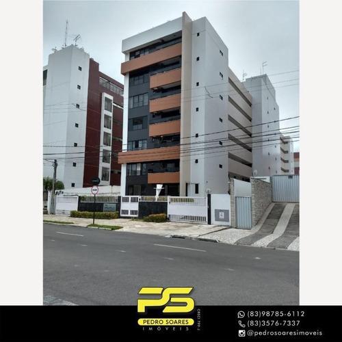 Apartamento Com 2 Dormitórios À Venda, 60 M² Por R$ 380.000 - Cabo Branco - João Pessoa/pb - Ap4363