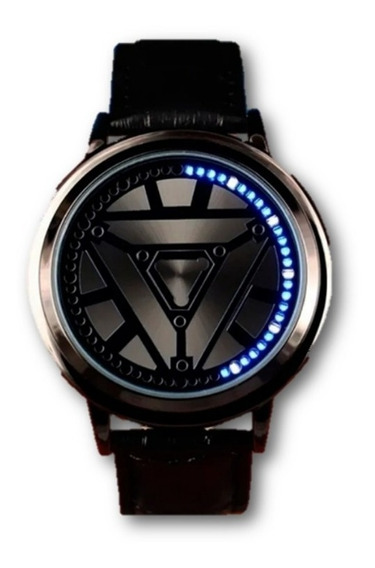 Reloj Touch Led Iron Man Reactor Arc Minimalista Binario Moda Caballeros