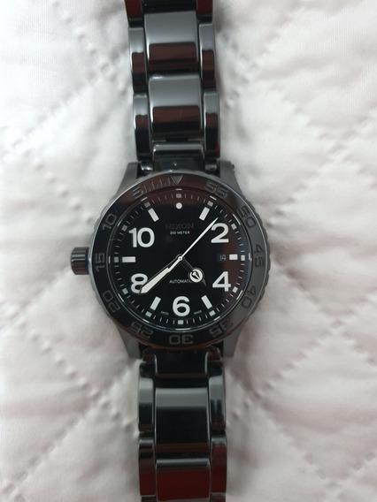 Relógio Nixon Ceramic 42-20 Elite Class Black Preto Original