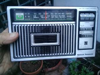 Radio National Panasonic Mod N-r-235-r Mw Y Sw Dos Bandas