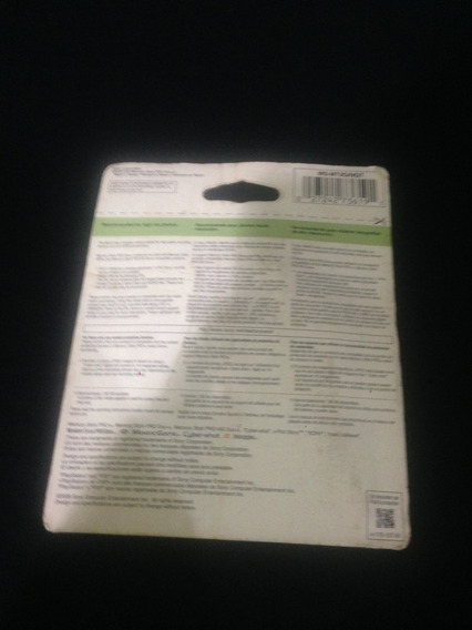 Cartão De Memória - Sony - 2gb - Pro Duo - Mark 2 - Novo