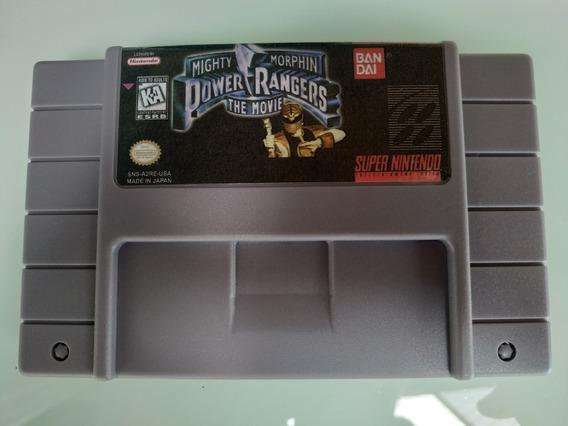 Power Rangers Mighty Morphin The Movie Super Nintendo Snes