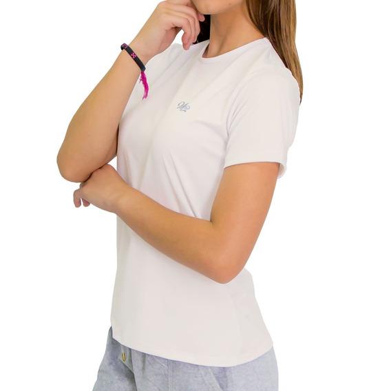 Camiseta Proteção Solar Uv Dry Manga Curta Feminina Gelo