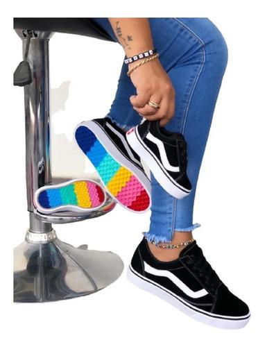 Tenis Zapatos Deportivos Vans Classic Suela Colores