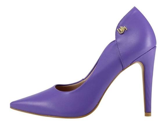 Scarpin Salto Alto Week Shoes Roxo