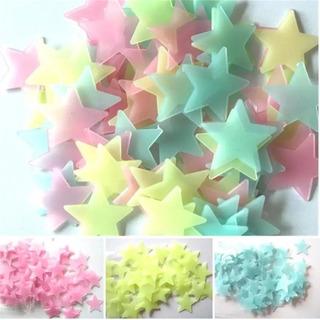 Estrellas Pegatinas Fluorescentes
