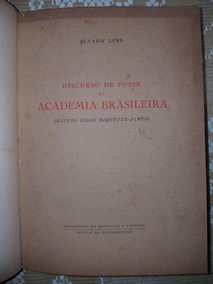 Autografado Alvaro Lins -imortal Da Academia De Letras Do Br