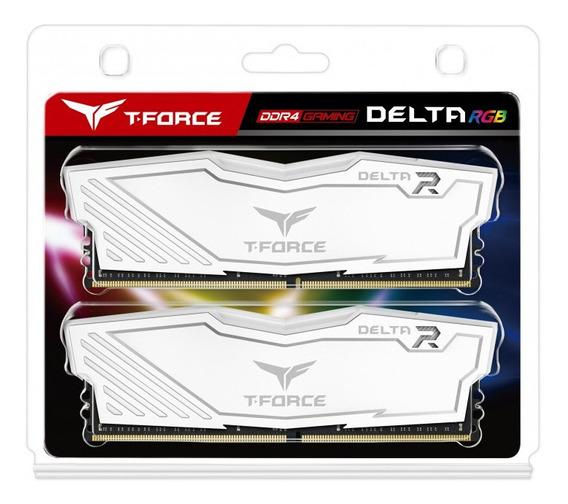 Memoria Team Tforce Ddr4 16gb 8gbx2 2666mhz Delta Rgb White