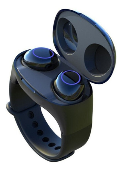 Fone De Ouvido Sem Fio Binaural Tws Bluetooth Azul