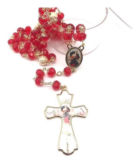 Terço De Cristal Nossa Senhora Da Anunciação Facetado