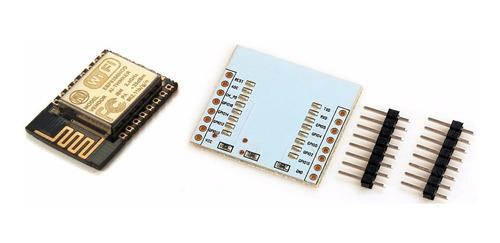 Imagem 1 de 4 de Modulo Wi-fi Esp8266 Esp 12 E Com Placa Para Soldar Terminal