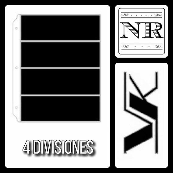 10 Hojas Para Billetes - Vk 4 Divisiones En Pvc Fondo Negro