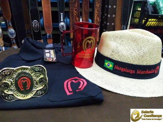 Kit Presente Chapéu Fivela Caneca E Camisa Polo Mangalarga