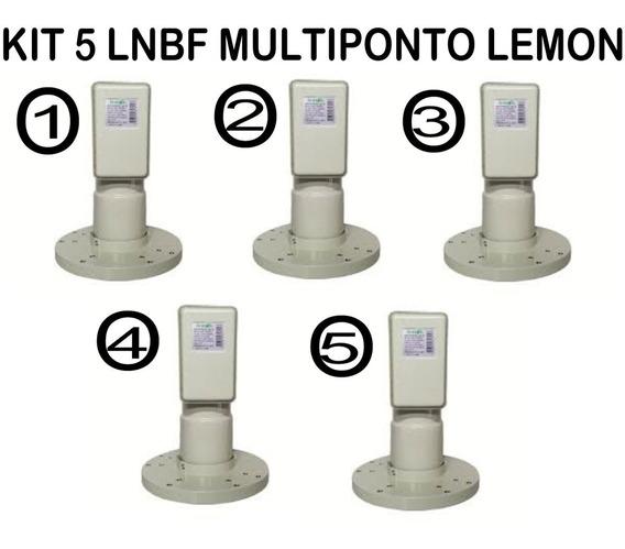 Kit 5 Lnbf Multiponto Lemon