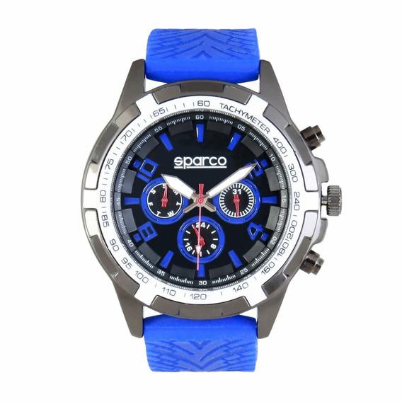 Reloj Sparco Modelo Eddie Color Azul
