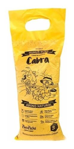Humus Puro Guano De Cabra Pura Pacha 3 L Abono 100% Natural