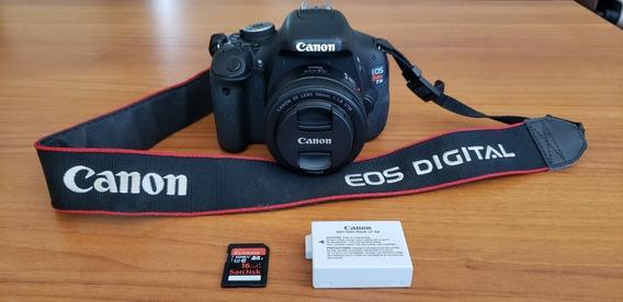 Canon T3i + Lente 50mm Nova
