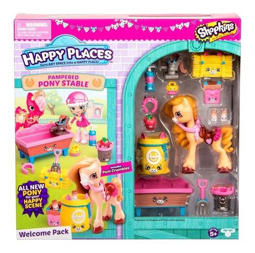 Happy Places Shopkins Pony Establo Dormitorio Muebles Jardin