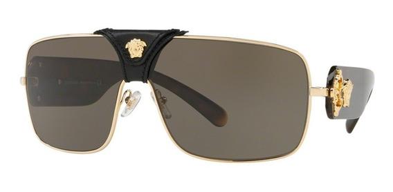Versace Ve2207q 1002/3 Dourado T38 Óculos De Sol