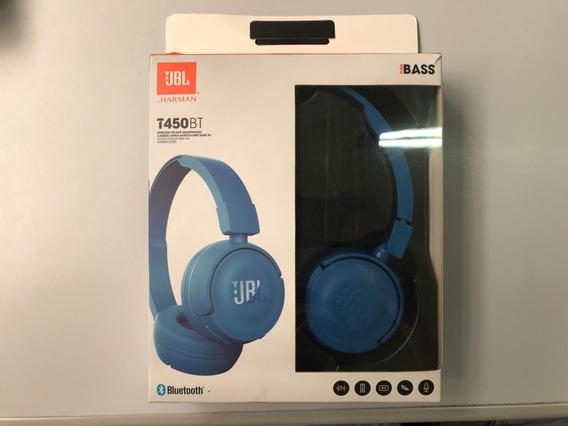 Fone De Ouvido Bluetooth Jbl450bt Original Azul
