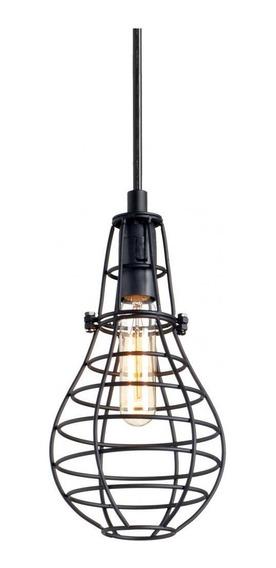 Luminária Lustre / Pendente Aramado Grande Preto Lt-166