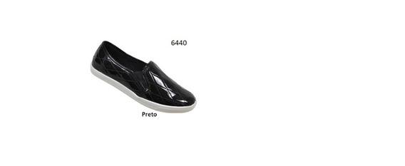 Tênis Via Euro Feminino Preto Ref.6440