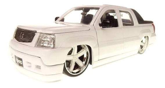 Miniatura Cadillac Escalade Ext 2002 Branco Jada Toys 1/24