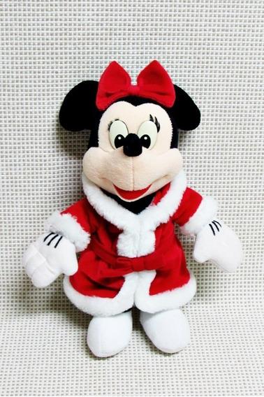 Minnie Pelucia Natalina Disney 24 Cm Bau8