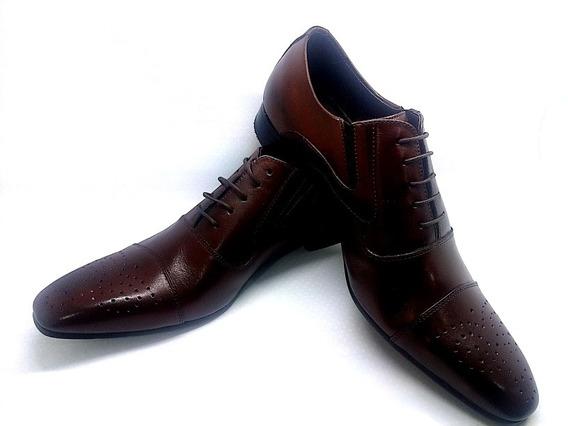 Sapato Social Masculino Couro Marrom Personalizado