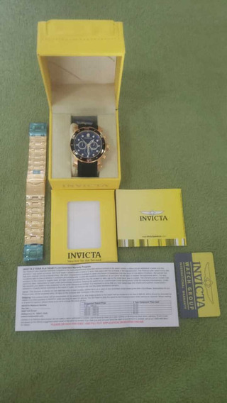 Relógio Invicta Pro Diver Fundo Preto Com Pulseira Extra