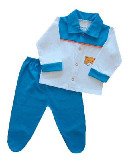 Conjunto Maternidade Bebê Menino Calça E Casaco Algodão