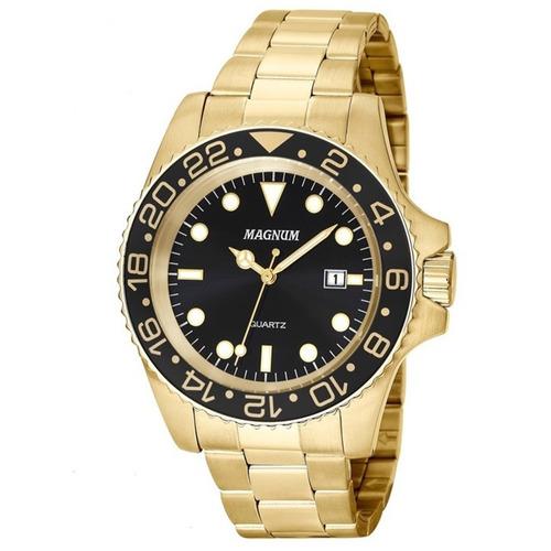 Relógio Masculino Magnum Ma32934u Dourado