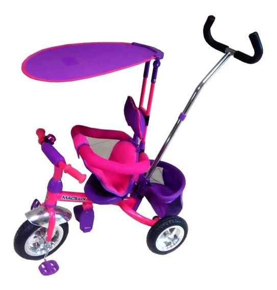 Macilux Triciclo 3 En 1 Para Bebe Techo Recto Dirigible