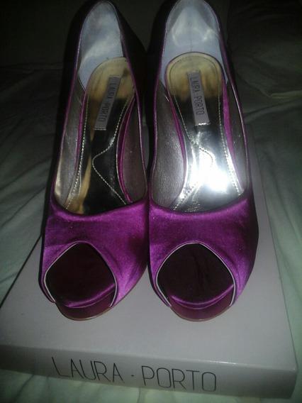 Sapato Número 36 Marca Laura Porto Cor Rosa