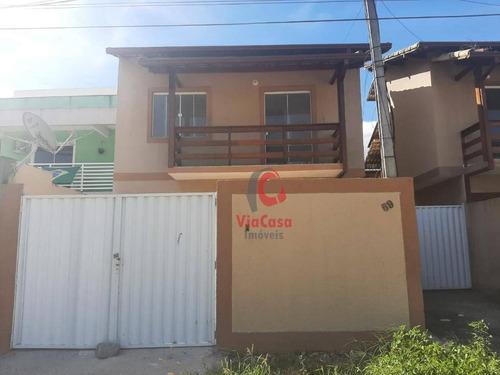Casa Com 3 Dormitórios À Venda, 77 M² Por R$ 200.000,00 - Extensão Serramar - Rio Das Ostras/rj - Ca2280