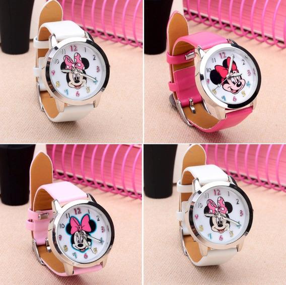 Relógio Minnie Menina Moça Mulheres Kit 10 Relógios Atacado