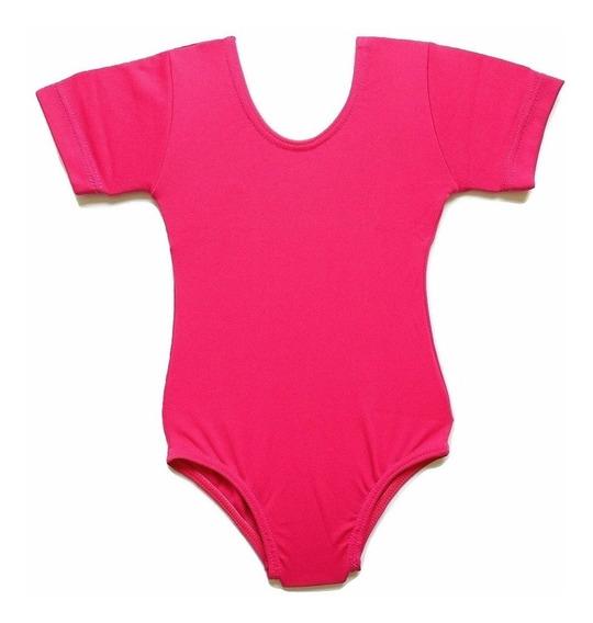 Collant Infantil Pink Ballet Body Liso Capézio 2 Ao 12