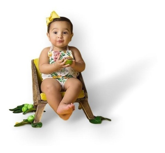 Poltrona Megs Mogno 001 Posicionadora Newborn Sofá Props