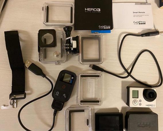 Câmera Go Pro Hero 3, Lcd, Controle E Case