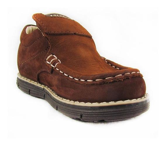 Zapatos Para Niños Pocholin Casuales Azul Y Marron