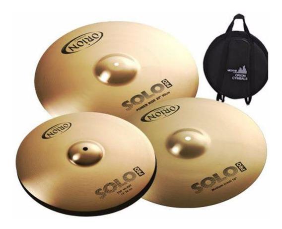 Set Kit De Pratos Orion Solo Pro 10 Sp90 14 16 20 + Bag B10