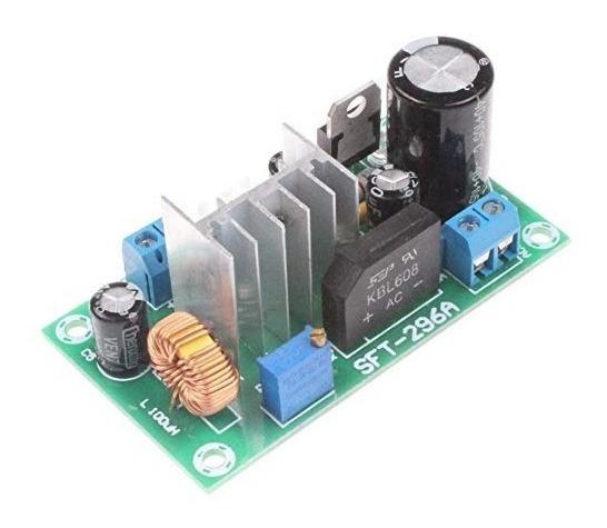 Módulo De Potência Ajustável Ac/dc Fonte Ajustável Arduino