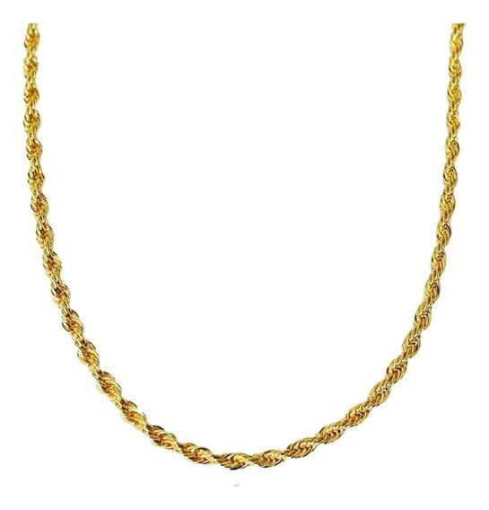 Corrente Feminina Cordão Baiano Folheado A Ouro 18k 45cm