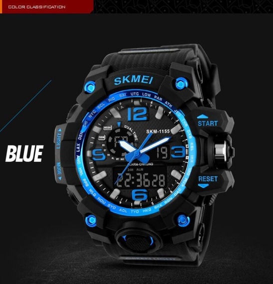 Relógio Masculino Esporte 50m Resistente Água 1155